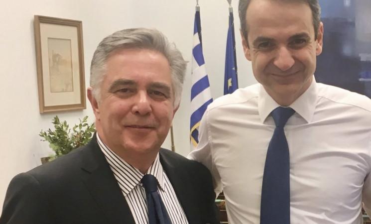 Συνάντηση στη Βουλή με τον Πρόεδρο της ΝΔ Κυριάκο Μητσοτάκη